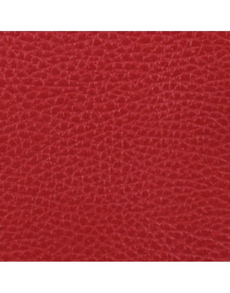 colore rosso martellato in vera pelle