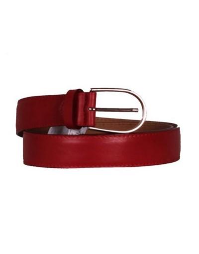 Cintura donna in pelle liscia - rosso